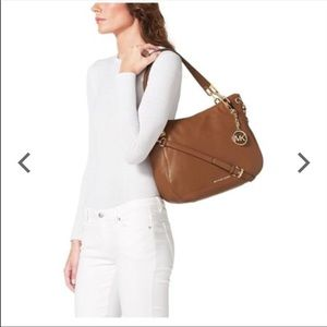 Michael Kors beautiful brown leather bag!
